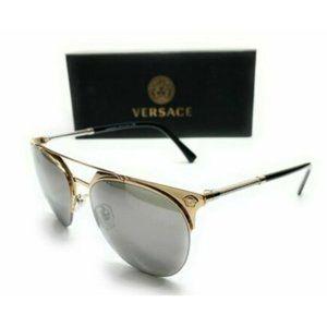 Versace Men's Gold Pilot Sunglasses!